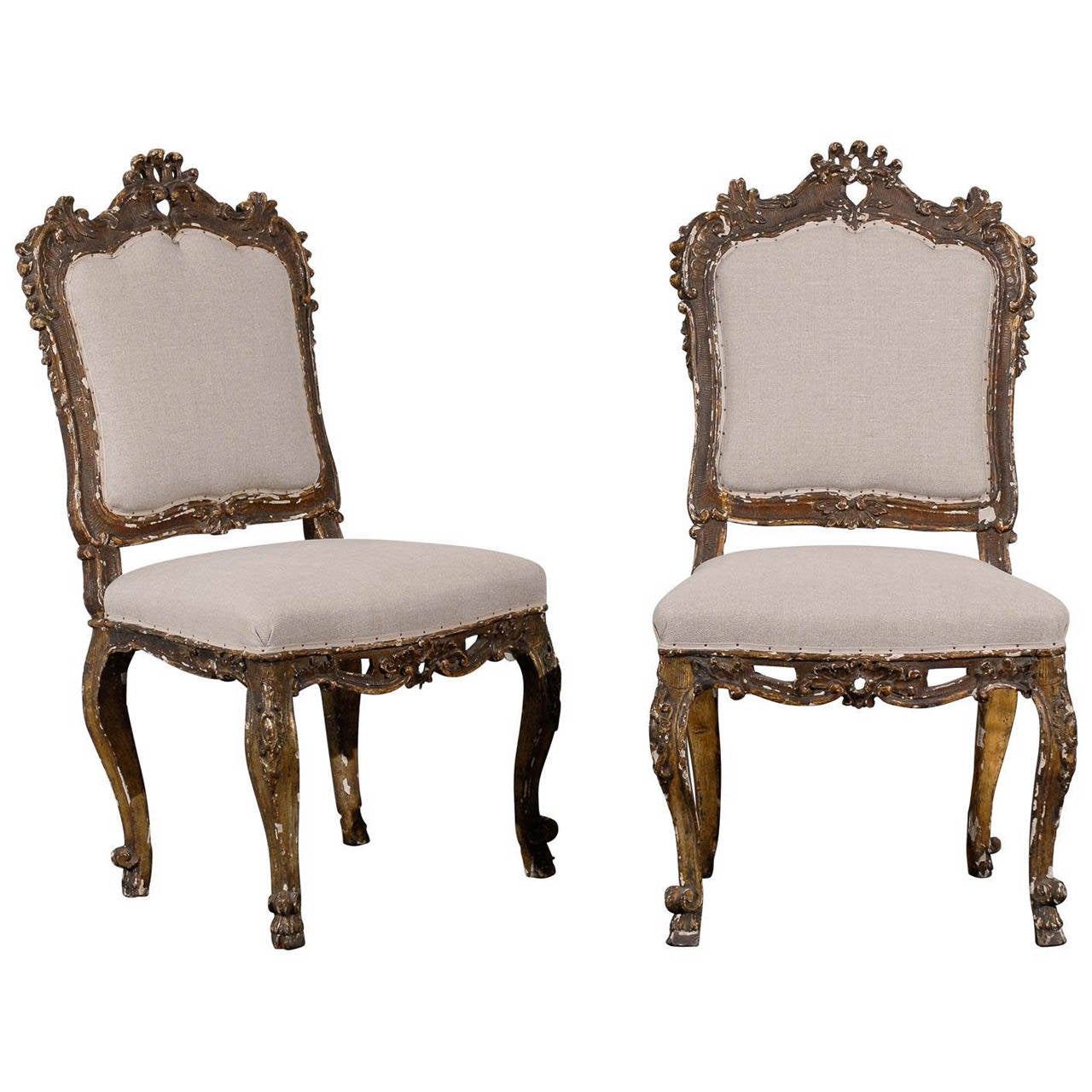 Pair of 18th Century Italian Neoclassical Style Paint