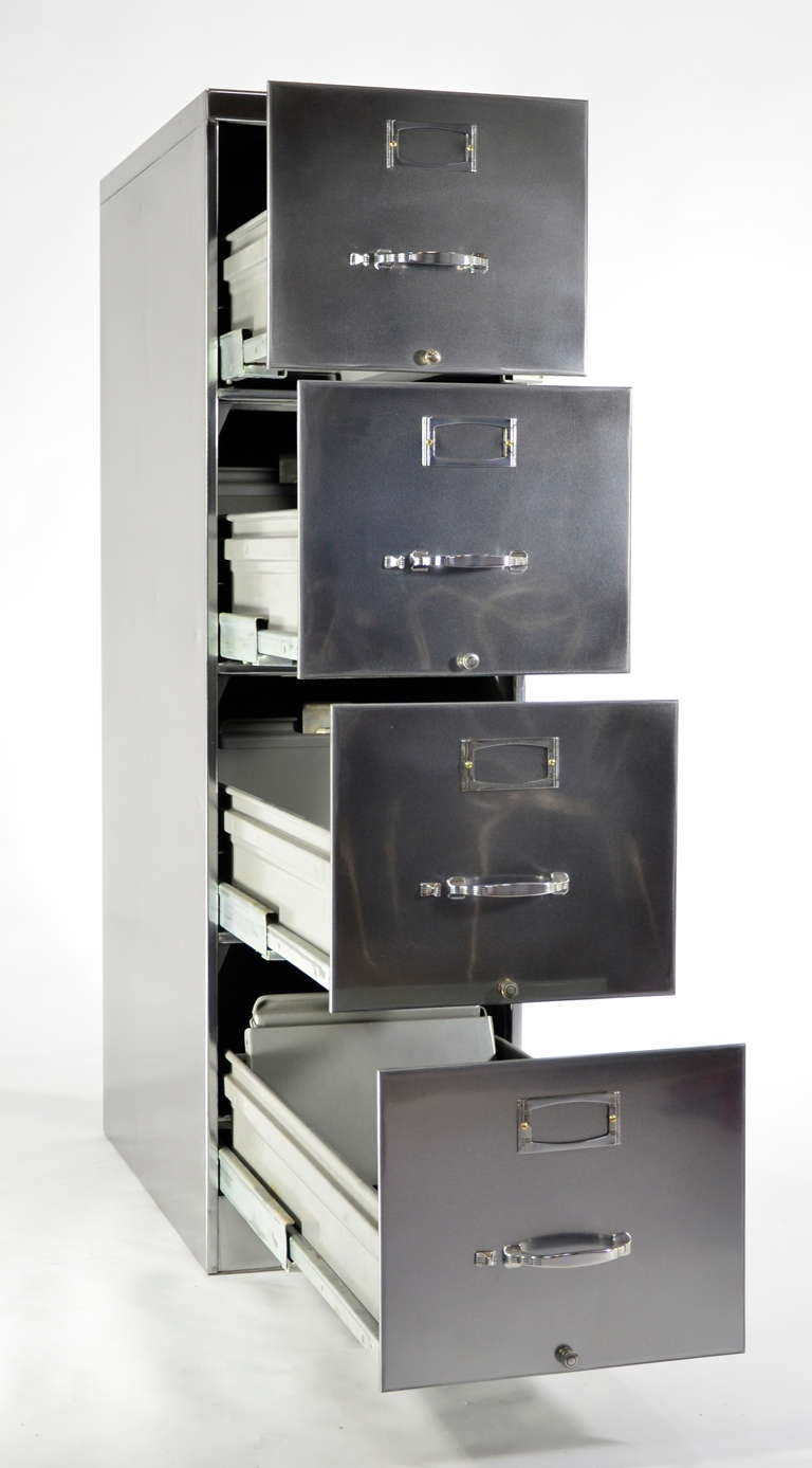 Classic FourDrawer Steelcase File Cabinet For Sale at 1stdibs