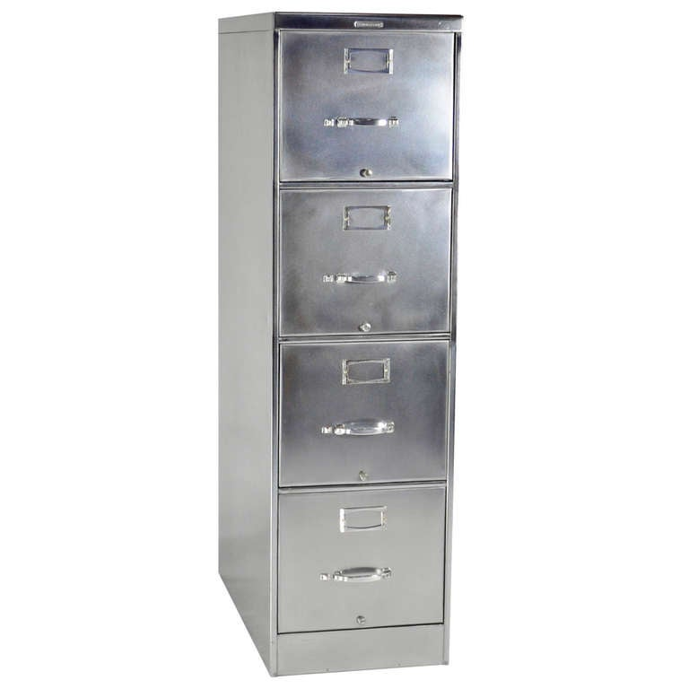 Classic FourDrawer Steelcase File Cabinet at 1stdibs