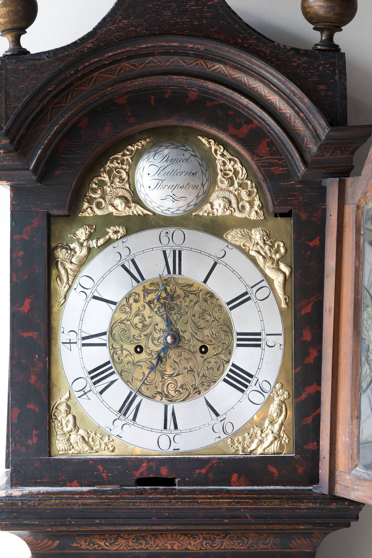 George Iii Chinoiserie Japanned Longcase Clock George Iii Black Chinoiserie Black Lacquered Long Case