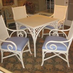 White Wicker Chairs And Table Chamber Pot Chair American Style Set Of Four Arm