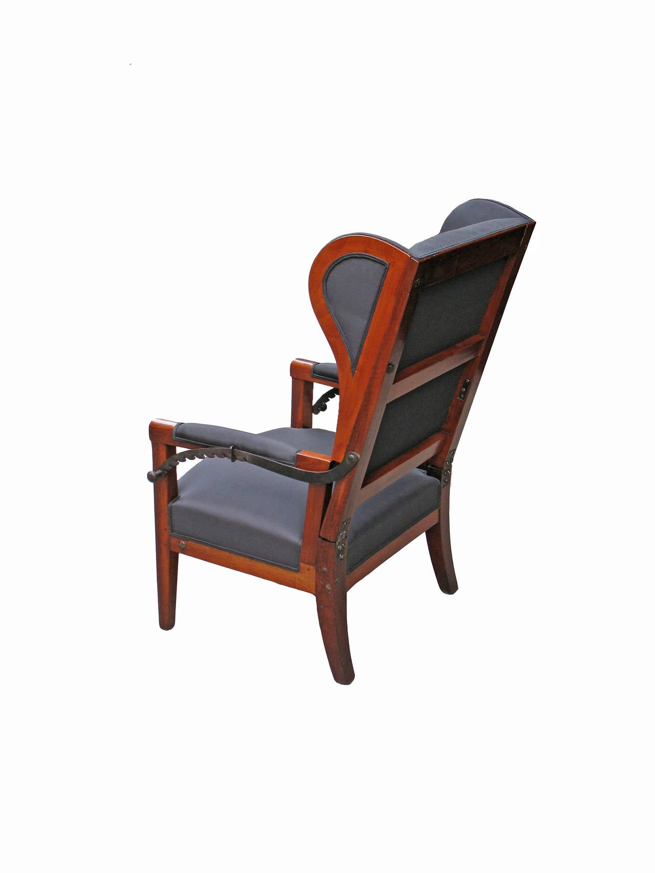 reclining wingback chair hanging indoor chairs very special biedermeier wing for sale at