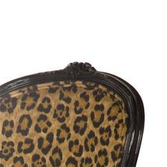 Cheetah Print Folding Chair High Cushions Vintage Leopard Cafe At 1stdibs