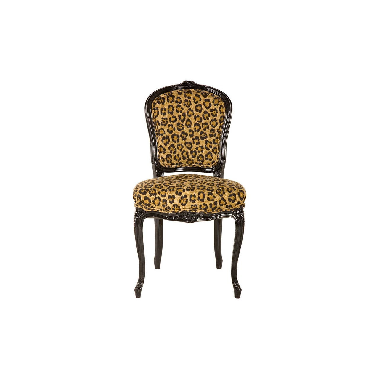 retro cafe dining chairs makeup chair for sale vintage leopard print at 1stdibs