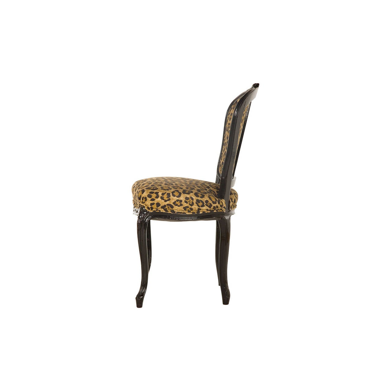 cheetah print folding chair black dining room vintage leopard cafe at 1stdibs