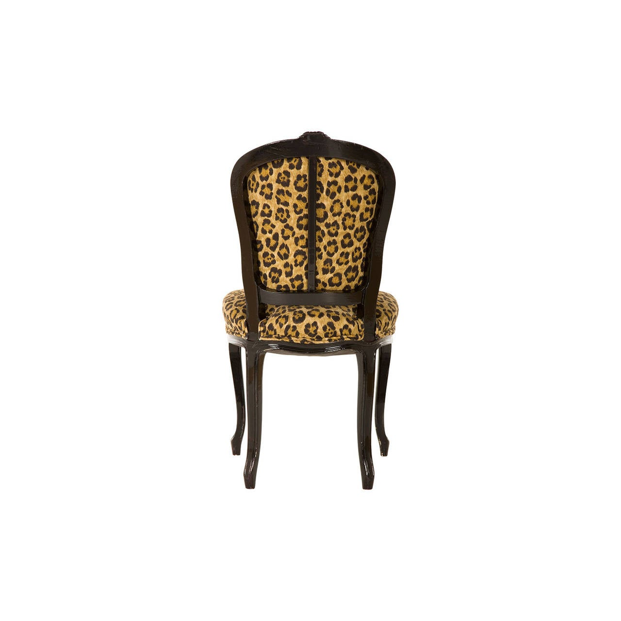 cheetah print folding chair steel casters vintage leopard cafe at 1stdibs