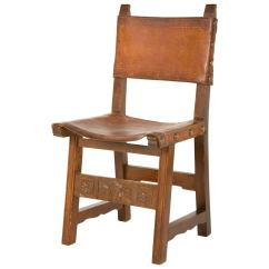 Dining Chair Covers In Spanish Small Desk And Set Vintage Leather At 1stdibs