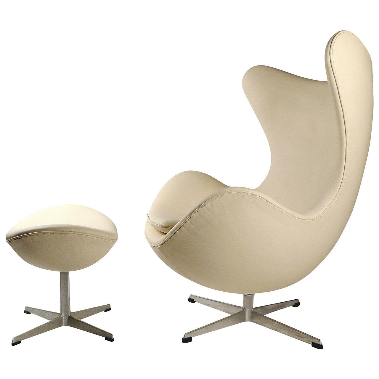 jacobsen egg chair leather lamps plus chairs early production with ottoman by arne