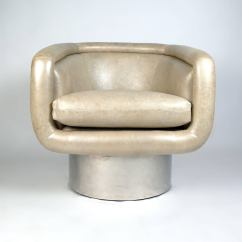 Swivel Chair Leons Tufted White Leon Rosen Chairs For Pace At 1stdibs