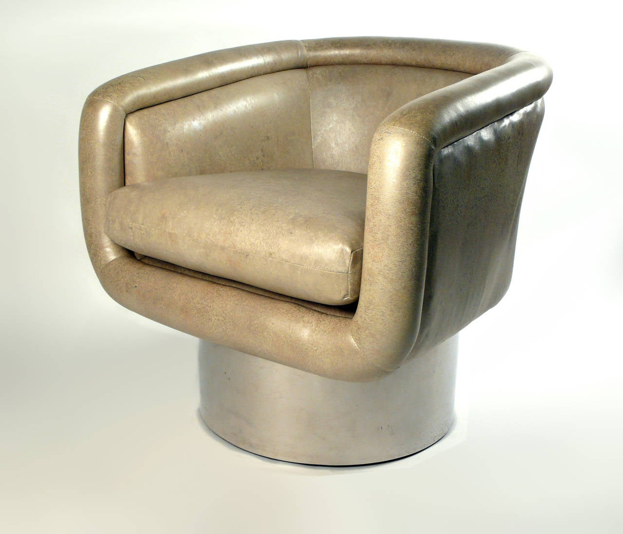 swivel chair leons foldable chairs with cushions leon rosen for pace at 1stdibs