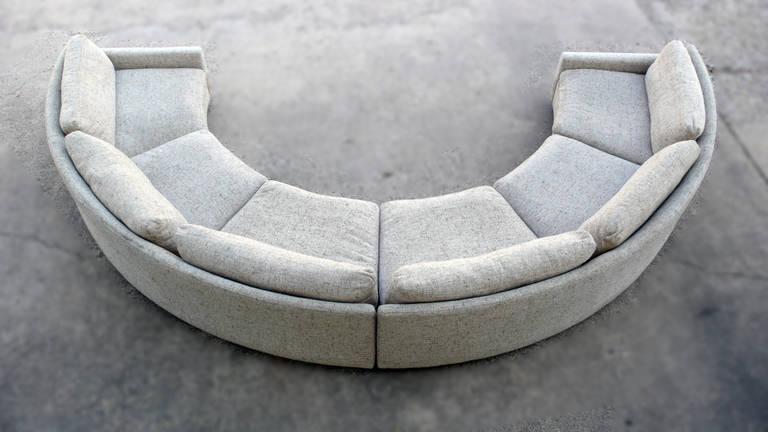 Milo Baughman Semi Circular Party Sofa At 1stdibs