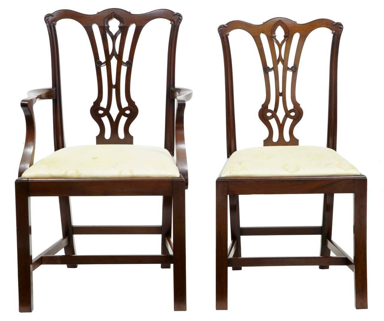 medieval dining chairs chair covers for less 19th century set of eight chippendale gothic mahogany