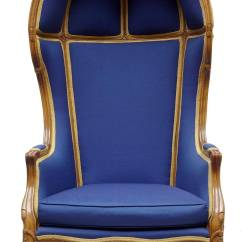 French Canopy Chair Wingback With Ottoman 19th Century Walnut Hall Porters Throne At