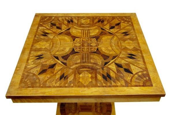 20th Century Art Deco Inlaid Occasional Table 1stdibs