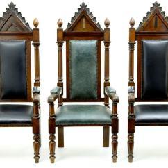 Barley Twist Chair Reclining Movie Theater Set Of 3 Solid Oak Impressive Masonic Throne Chairs At 1stdibs