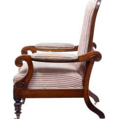 Unusual Armchair Childs Adirondack Chair 19th Century William Iv Mahogany Reclining Lounge