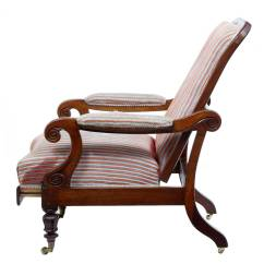 Unusual Armchair Slipper Chair Ikea 19th Century William Iv Mahogany Reclining Lounge