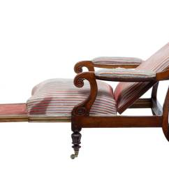 Unusual Armchair Chairs With Cup Holders 19th Century William Iv Mahogany Reclining Lounge