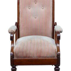 Unusual Armchair Great Windsor Chairs 19th Century William Iv Mahogany Reclining Lounge