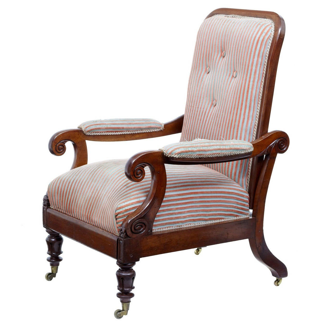 unusual armchair by electric chair 19th century william iv mahogany reclining lounge