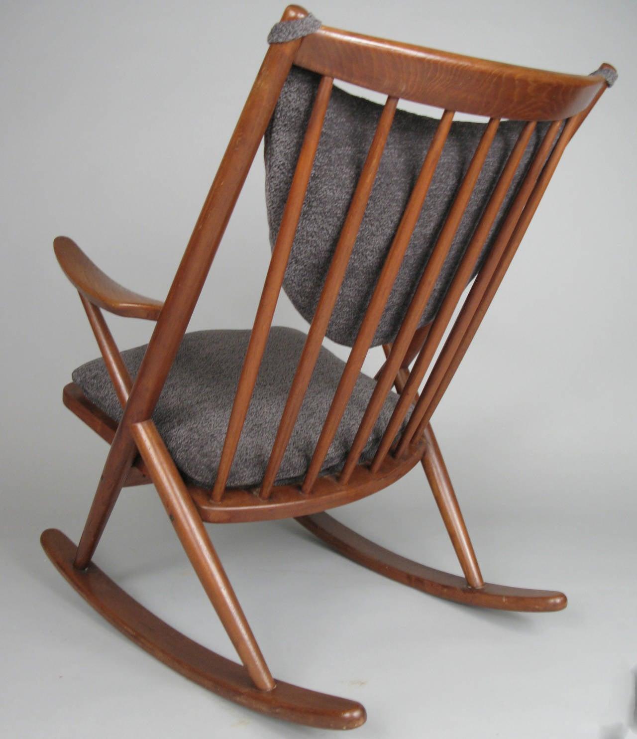 danish modern rocking chair cover hire stoke on trent 1950s teak by frank reenskaug