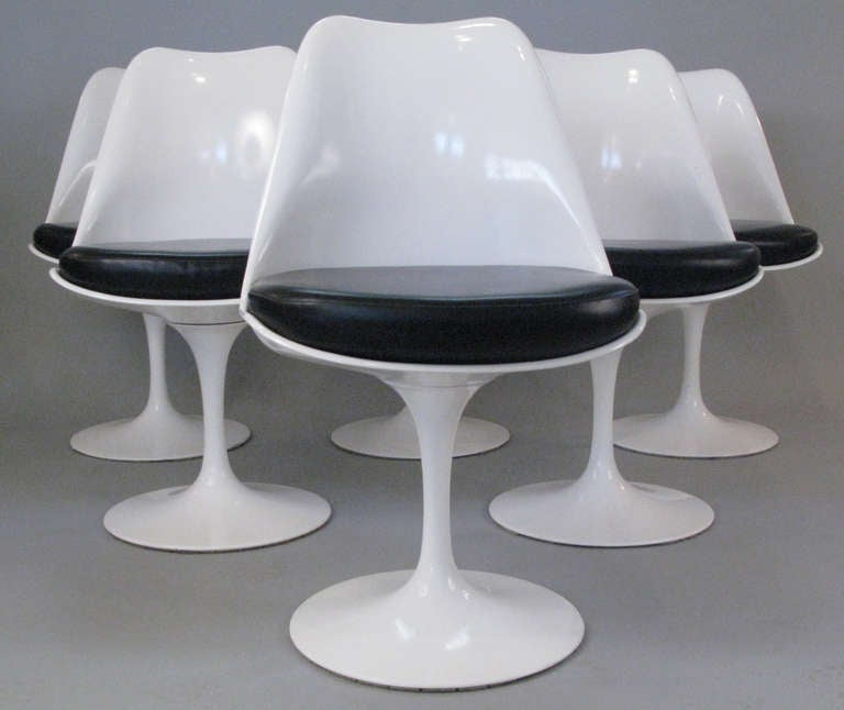 bertoia wire chair original kids folding table and chairs target set of six saarinen swivel tulip by knoll at 1stdibs