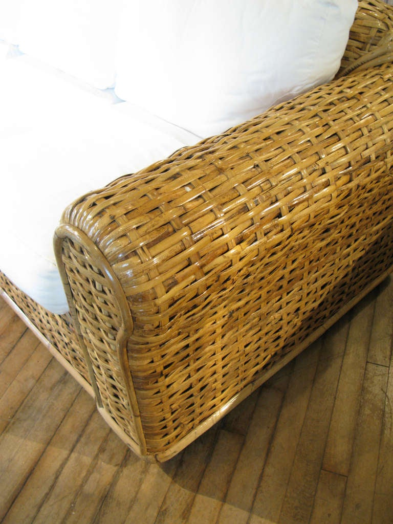 chesterfield sofa modern room and board woven rattan by ralph lauren at 1stdibs