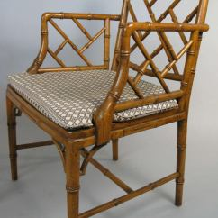 Seat Cushions For Wicker Chairs Wedding Chair Covers Belfast Set Of Six Vintage Faux Bamboo Dining At 1stdibs