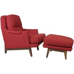 Modern Lounge Chair And Ottoman Set In Pool Chairs Classic By Dunbar At 1stdibs