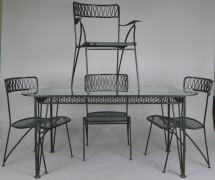 1950s Wrought Iron Dining Set Tempestini Salterini