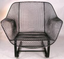 Pair Of Vintage Mesh Spring Lounge Chairs Russell