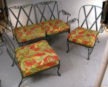 Vintage Woodard Garden Lounge Seating 1stdibs