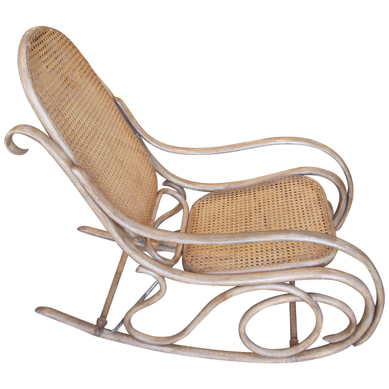 bentwood cane seat chairs graco high chair straps instructions thonet and caned rocking for sale at 1stdibs