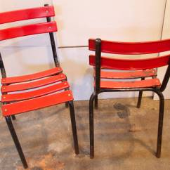 Industrial Bistro Chairs Kids Car Barber Chair Set Of Four French Metal At 1stdibs