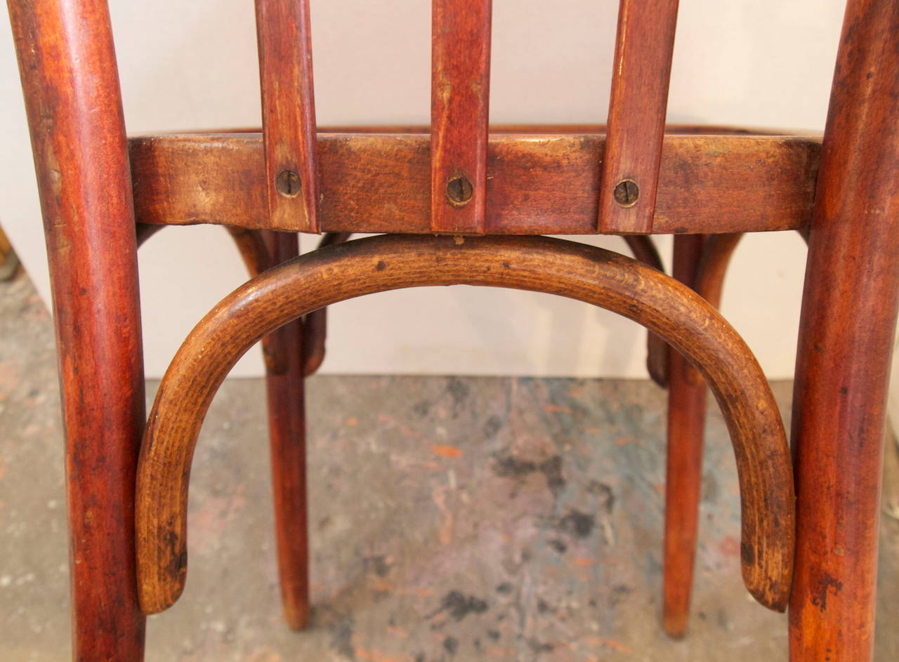 french bentwood cafe chairs aeron side chair set of eight bistro at 1stdibs