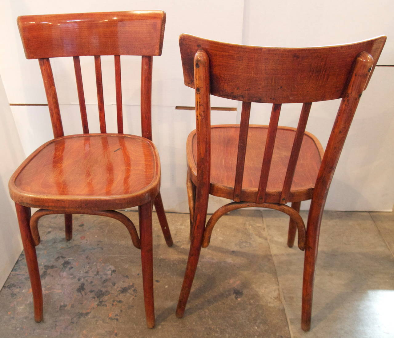 plastic bentwood bistro chairs hanging chair deck set of eight french at 1stdibs