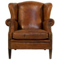 Leather Wingback Chair at 1stdibs