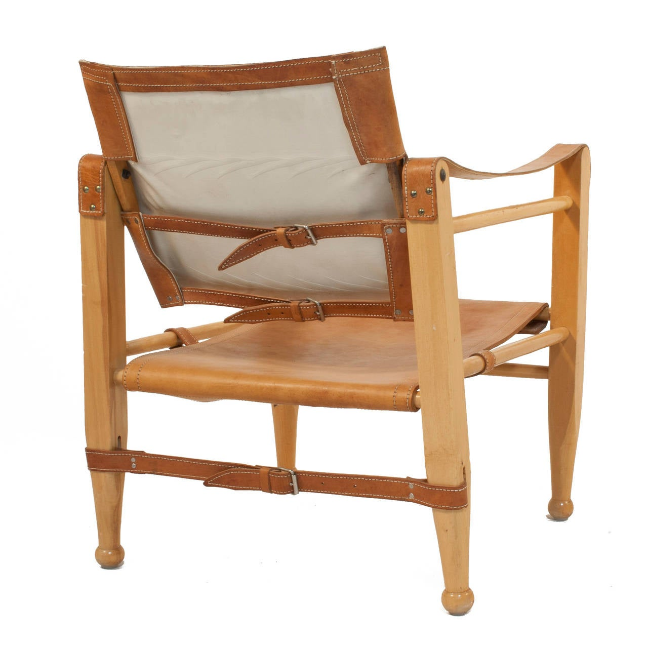 leather safari chair burlap covers pair of chairs at 1stdibs