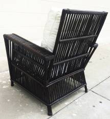 Wicker Bamboo Patio Chairs And Sofa Upholstered In