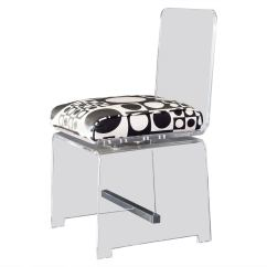 Clear Acrylic Swivel Office Chair Armed Accent Chairs Modern Vanity Or Desk In Lucite With Swiveling Seat