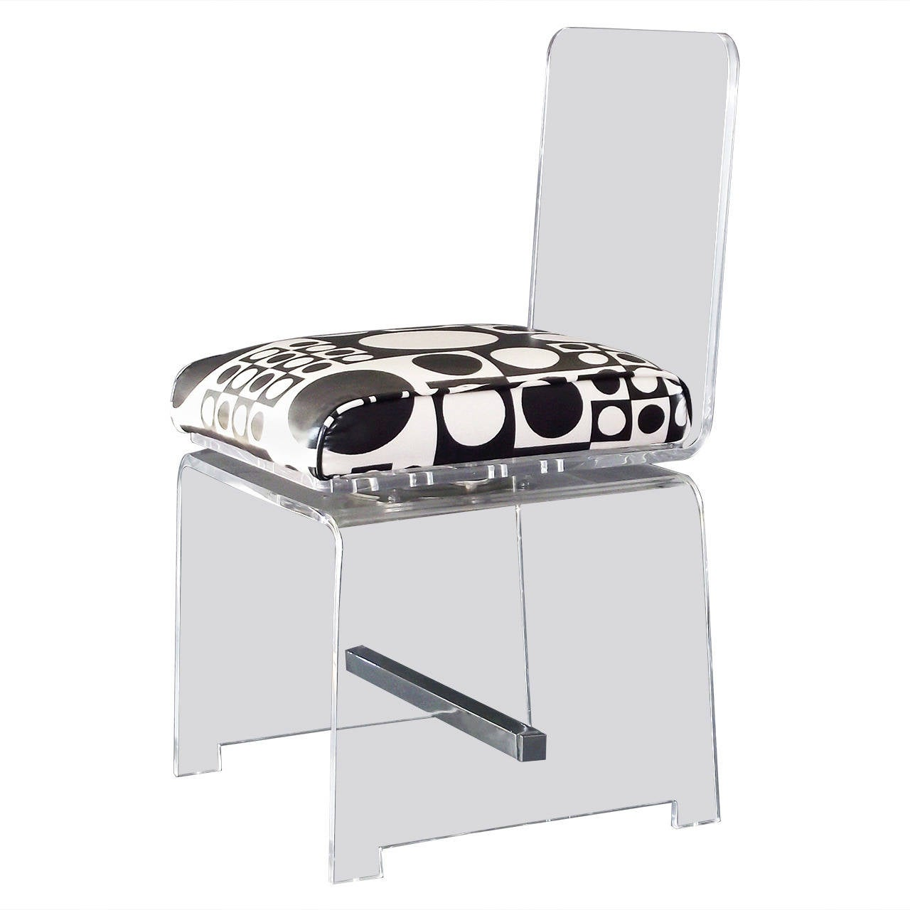 clear acrylic swivel office chair pedicure chairs wholesale modern vanity or desk in lucite with swiveling seat