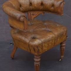 Tufted Desk Chair Recliner Chairs On Sale English Leather At 1stdibs