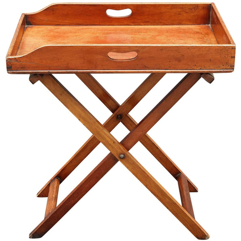 English Butlers Tray On Folding Stand At 1stdibs