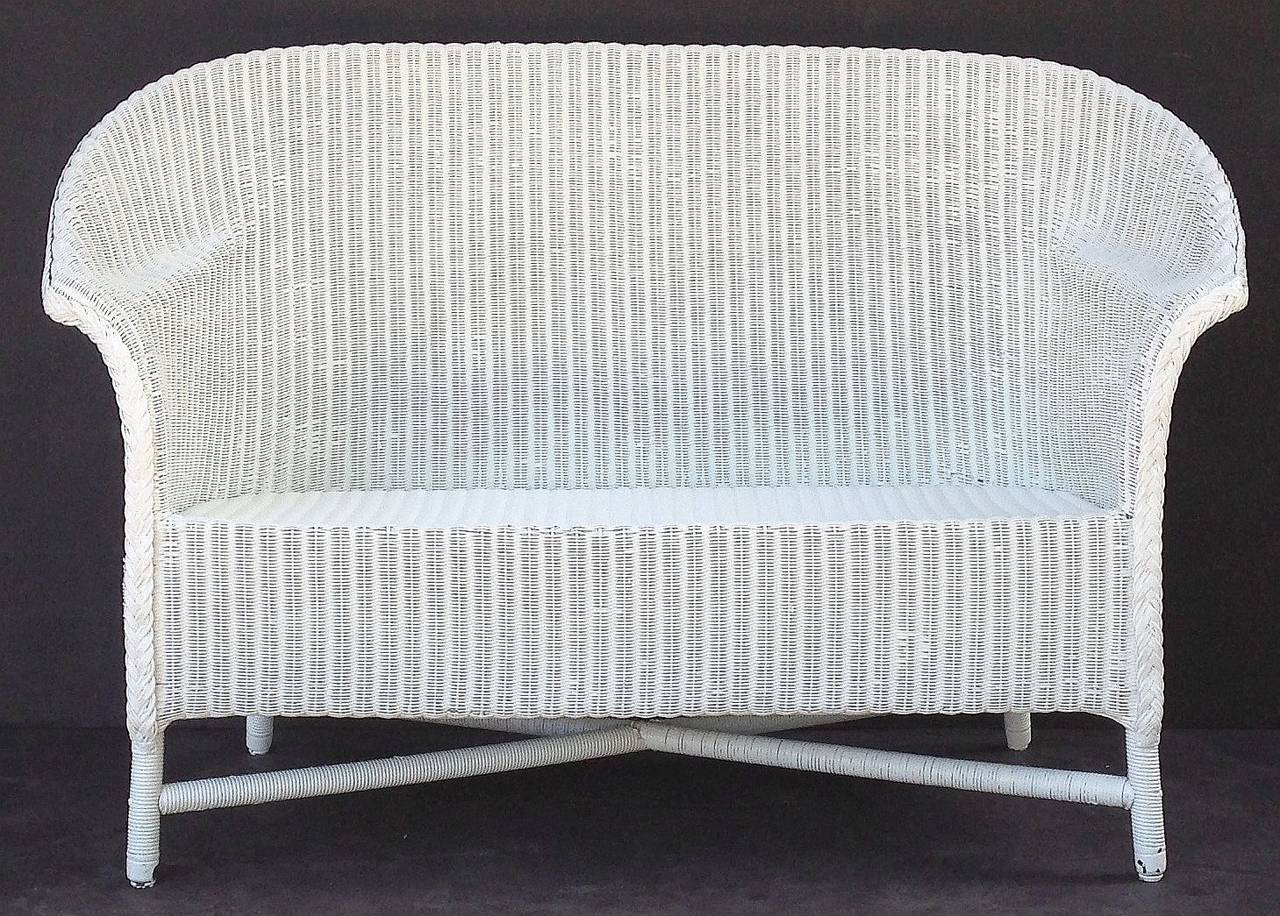 tufted sofa set decor to go with dark brown lloyd loom cushion seat at 1stdibs