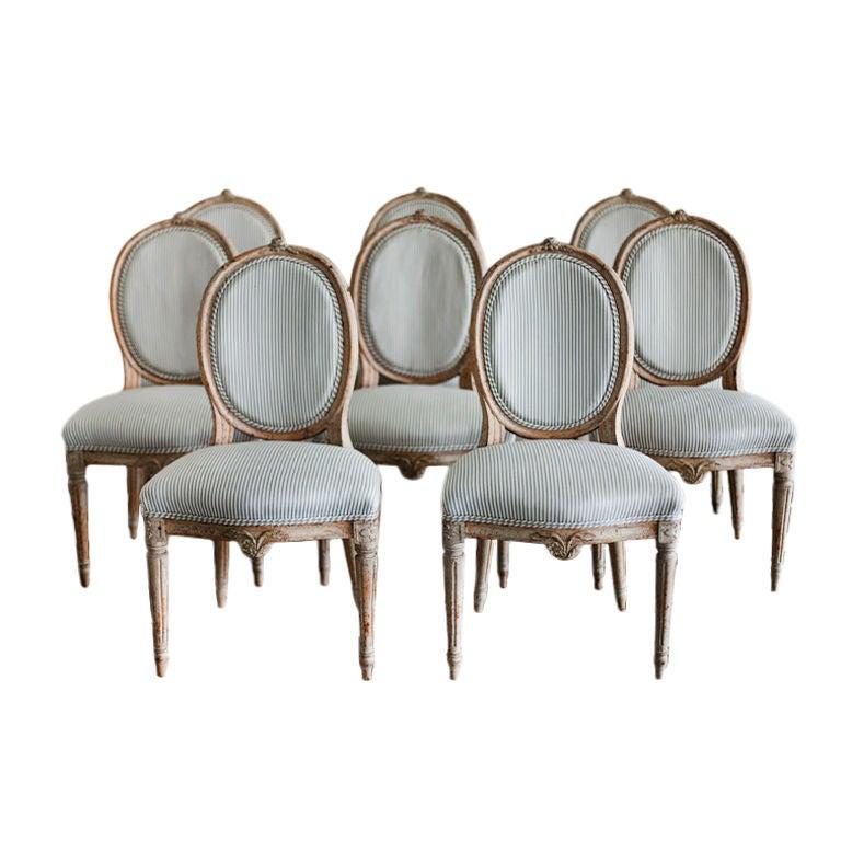 A Set of 8 Swedish High Gustavian Chairs at 1stdibs