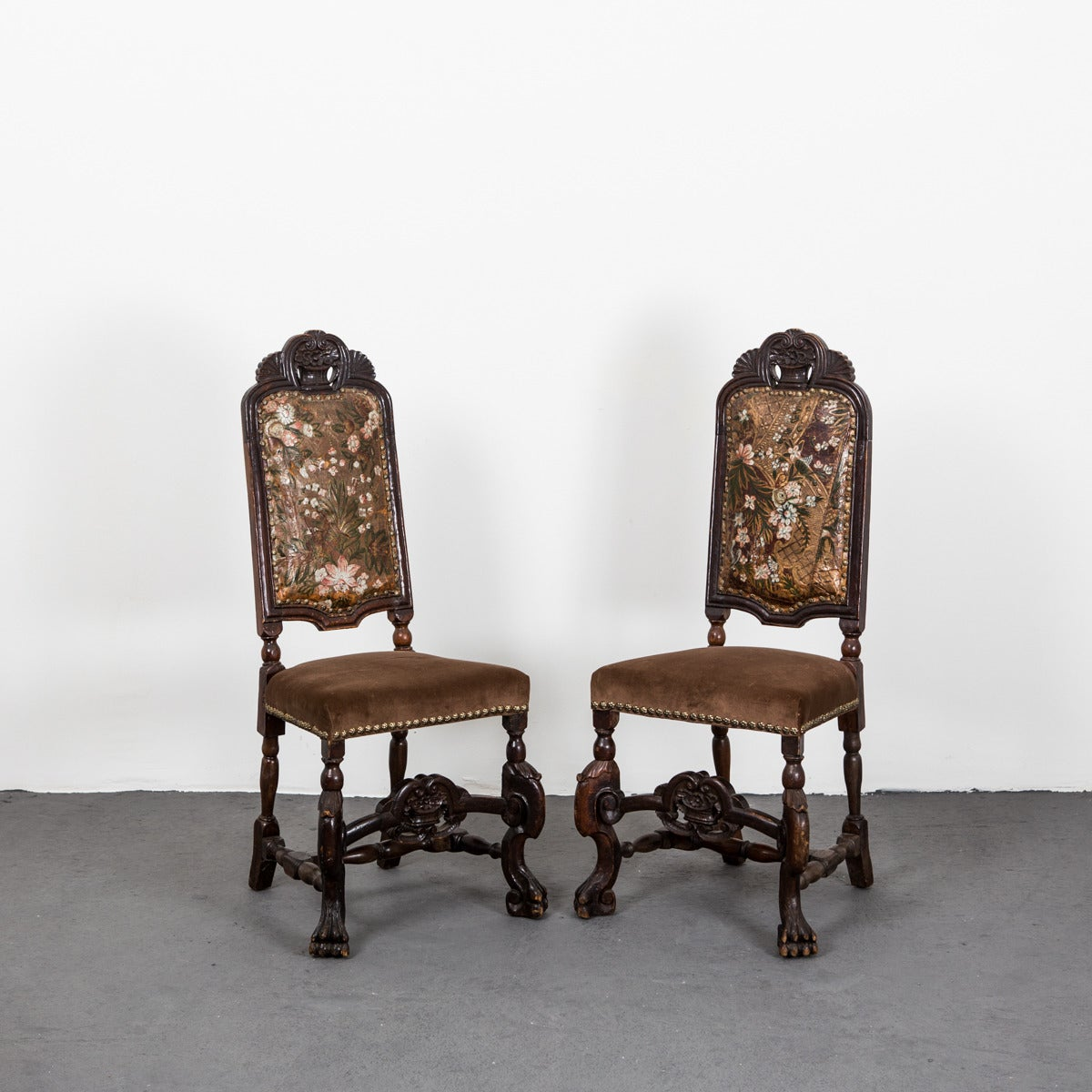 set of six dining chairs for sale papasan chair with cushion and frame baroque style at 1stdibs