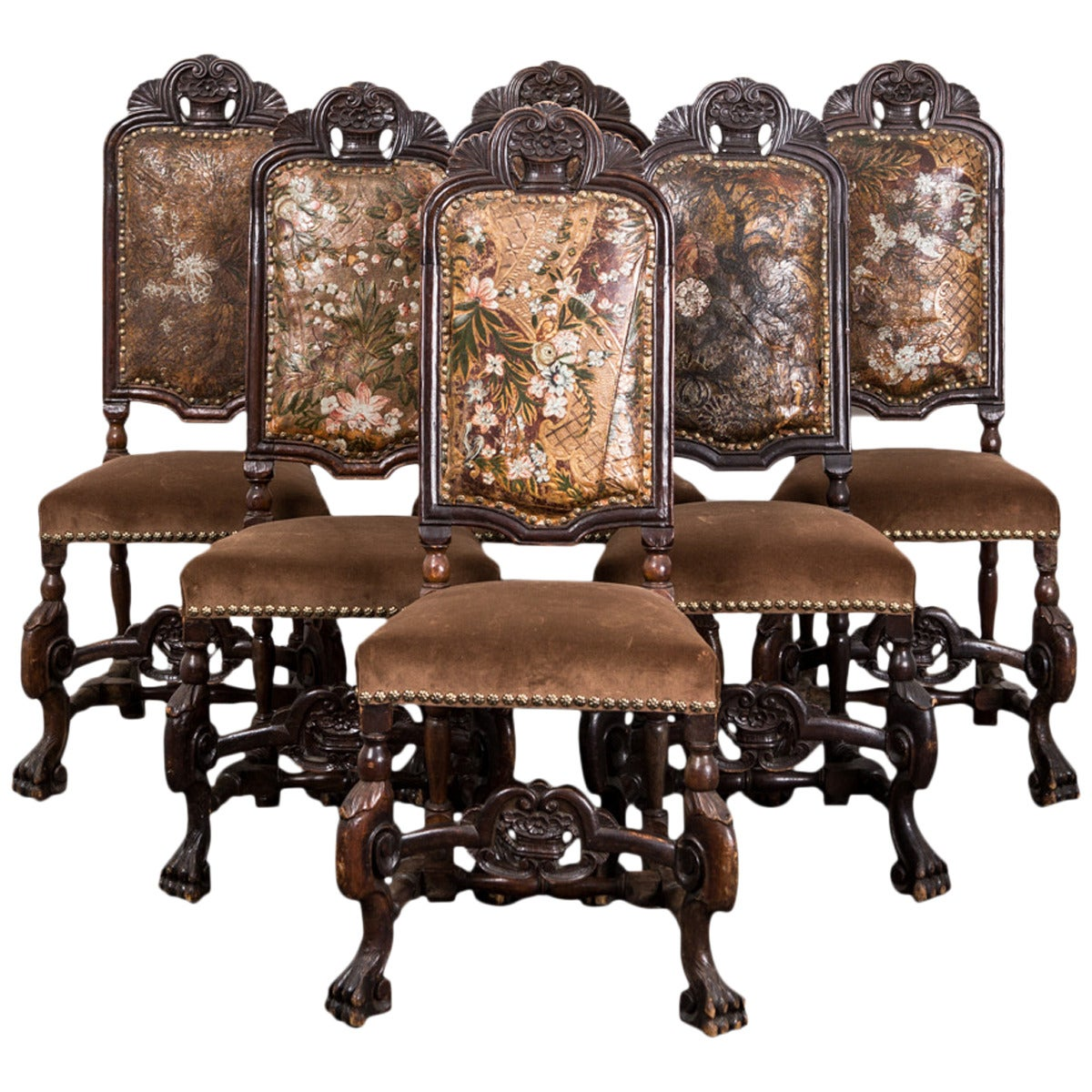 Dining Chairs Set Of 6 Set Of Six Baroque Style Dining Chairs For Sale At 1stdibs