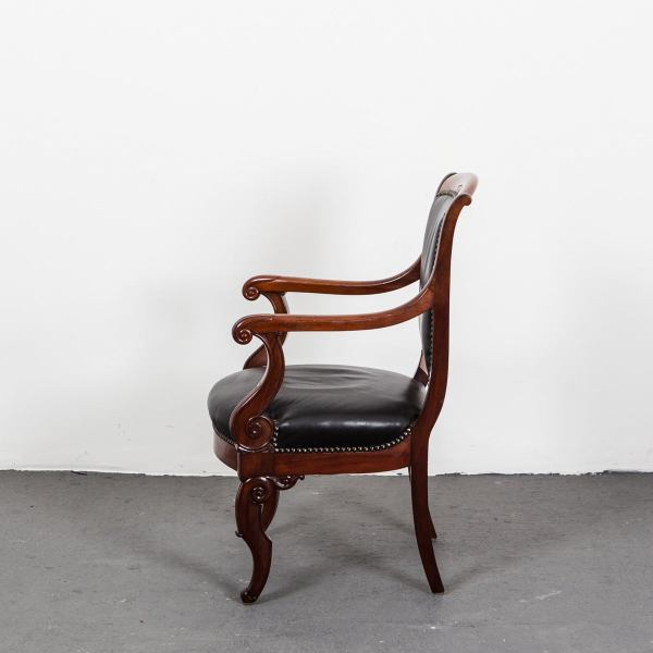 French Directoire Mahogany Armchairs For Sale at 1stdibs