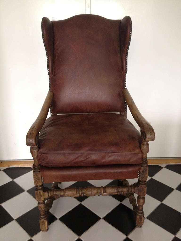 Swedish Baroque Wingback Chair at 1stdibs