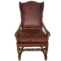 Swedish Baroque Wingback Chair at 1stdibs